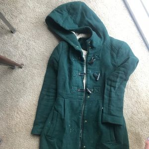 Zara Wool Green Coat XS